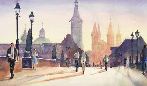 Aquarell leicht gemacht: Alte Stadt in neuem Licht